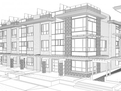Render of new development at 3428-3464 mt seymour parkway