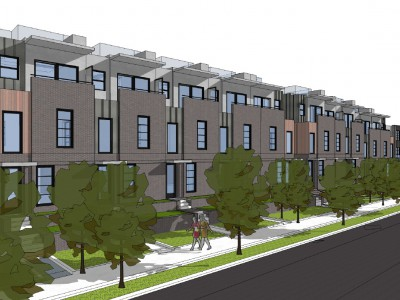 Render of a proposed development at 3468 Mt Seymour Parkway