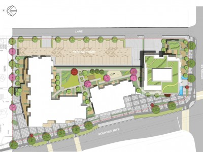 Site plan for proposed development at 420, 440, 460 mountain highway