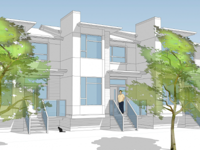 Render of new development at 4670 Capilano Rd