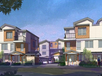 Rendering of a proposed development at 756 and 778 Forsman Ave