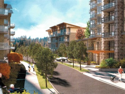 Render of a Bosa development in Lynn Valley