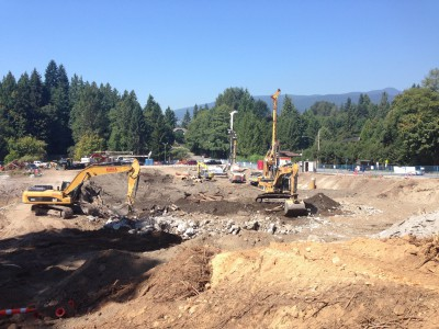 Excavation for the new Delbrook community rec centre