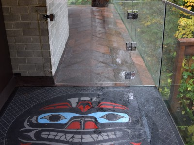 Kovach Residence: First Nations artwork integrated into the main deck