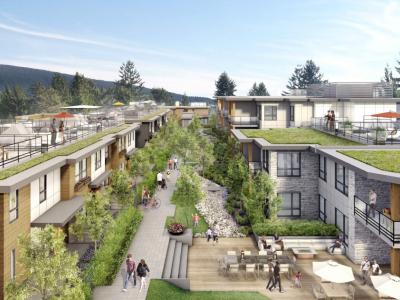 Rendering of interior courtyard of Grosvenor development in Edgemont Village