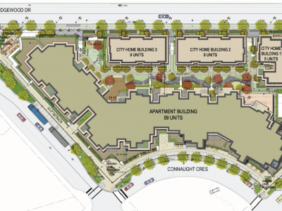 Site plan for Grosvenor development in Edgemont Village