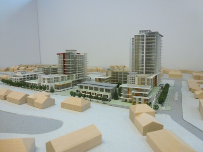 Model of LARCO development from the south end of Belle Isle Place
