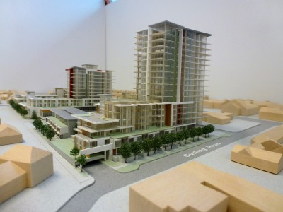 Model of LARCO development looking north east from Curling Rd