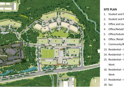 Revised site plan for proposed development at 2420-2468 Dollarton Hwy
