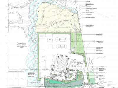 New Maplewood fire and rescue centre site plan rendering