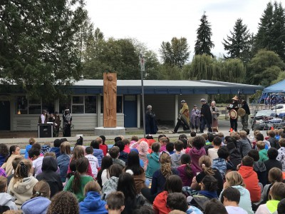 Traditional Coast Salish ceremony at L'École Cleveland Elementary