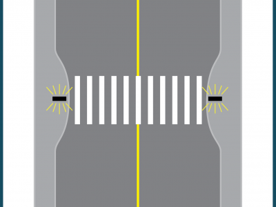 Illustration of a crossing upgrade