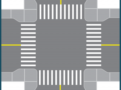 Illustration of a curb extension