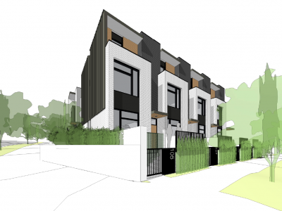 Render of a proposed development at 1031 Ridgewood Dr