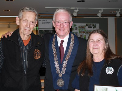 Photo of 2017 civic award winners Jan Lander and Doug Hayman