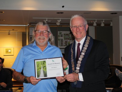 Photo of 2017 civic award winner Mick Maguire