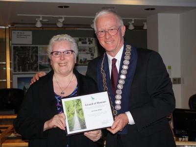 Photo of 2017 civic award winner Christine Miller