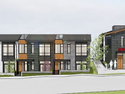 Render of new development proposed for 1012-1060 Deep Cove Road
