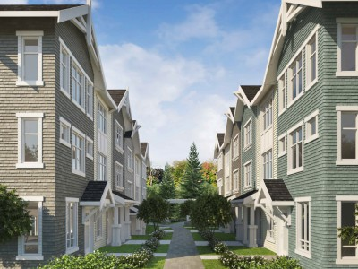 Revised render for proposed development at 3255 Gaspe Pl