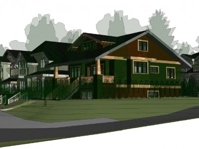 Rendering of a proposed development at 3075 Fromme Road