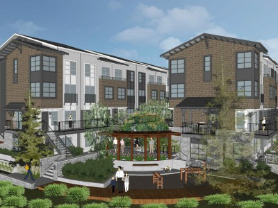 Render of a proposed development at 2049 Heritage Lane
