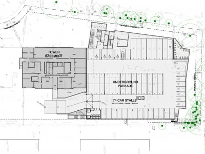 Site plan for proposed development at 2555 Whiteley Court