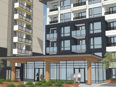 Render of proposed development at 2555 Whiteley Court