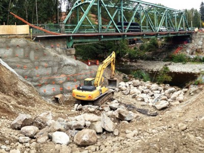 Construction progress on the new Keith Road Bridge in August, 2015