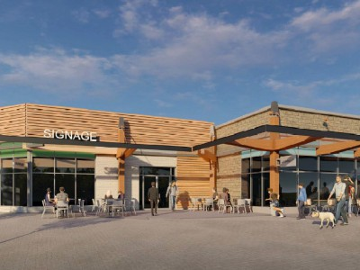 Rendering of proposed renovation of Lynn Valley Mall