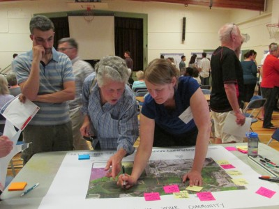 Attendees at Maplewood planning workshop
