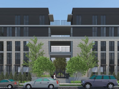 Rendering of proposed townhouse development at Mtn Hwy and Rupert