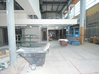 Photo of new Delbrook rec centre from inside main lobby