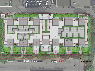 Site plan for new development at 1210-1260 west 16th