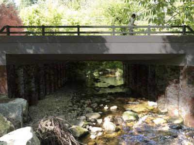Rendering of new bridge being built along Ross Road