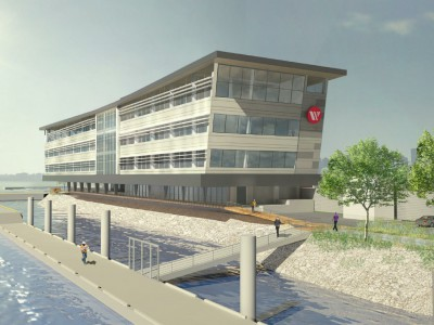 Render of the new Seaspan headquarters from the north east