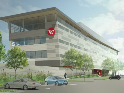 Render of the new Seaspan headquarters from the north west