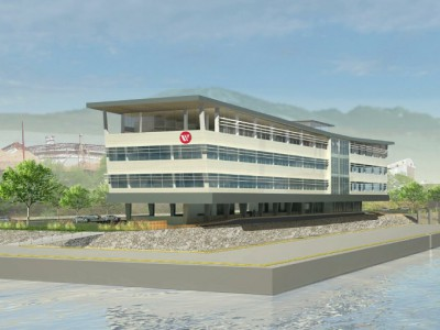 Render of new Seaspan headquarters from the south east