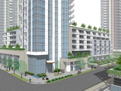 Render of proposed development at 600 Mtn Hwy (Apex)