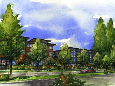 Rendering of proposed development at Seymour Estates