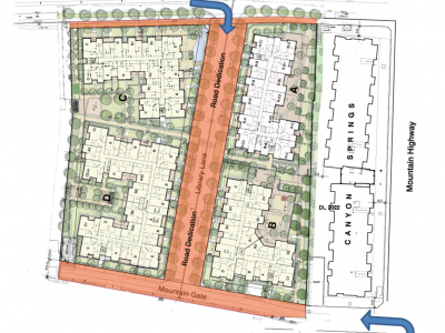 Mountain Court development site plan
