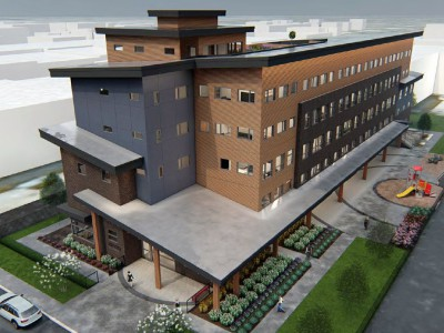 Rendering of proposed w16th supportive housing project
