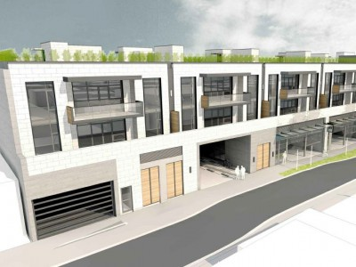 Rendering of proposed development at 3015-3059 Woodbine Dr