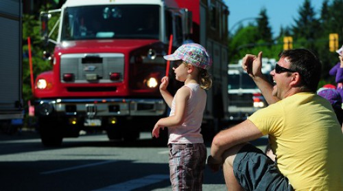 A young child at the Lynn Valley Days parade