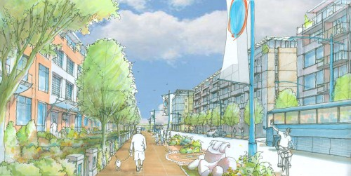 Rendering of Lynn Creek Town Centre