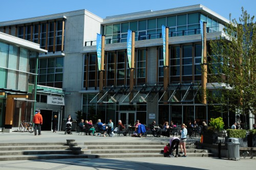 Public square at Lynn Valley Library