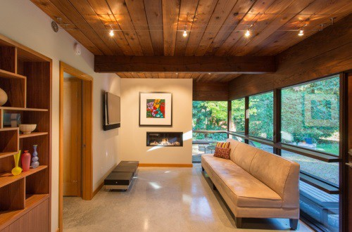 Interior of a mid-century modern house