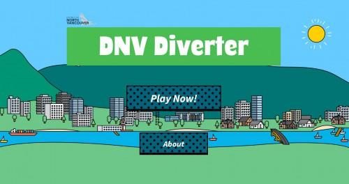 Illustration of the DNV Diverter game home screen
