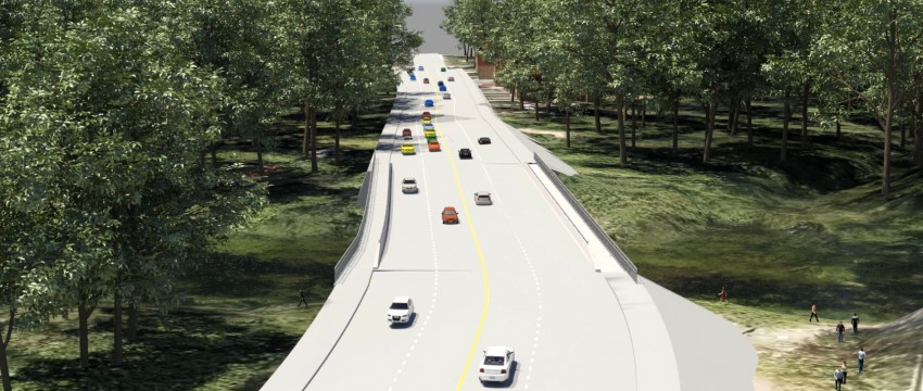 Rendering of the new Keith Road bridge
