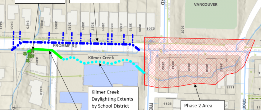 A map of the Kilmer Creek work area.
