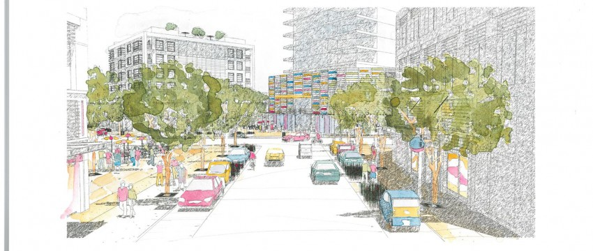 Rendering of Lynn Valley Town Centre